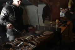 Wildbratwürste auf dem Grill
